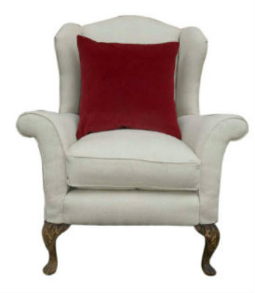 Monroe Avenue the perfect antique chair in cream linen/cotton mix (#1)