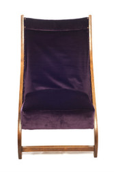 Monroe Avenue Aubergine purple velvet folding chair
