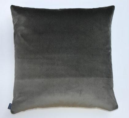 Heritage Velvet Cushion - Charcoal - 50 x 50cm