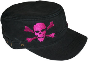 Cadet Hat with Safety Purple Jolly Roger