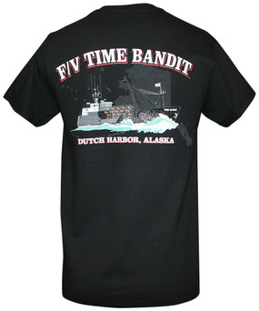 F/V Time Bandit Men's T-shirt Black