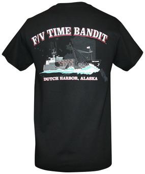 F/V Time Bandit Men's T-shirt Black