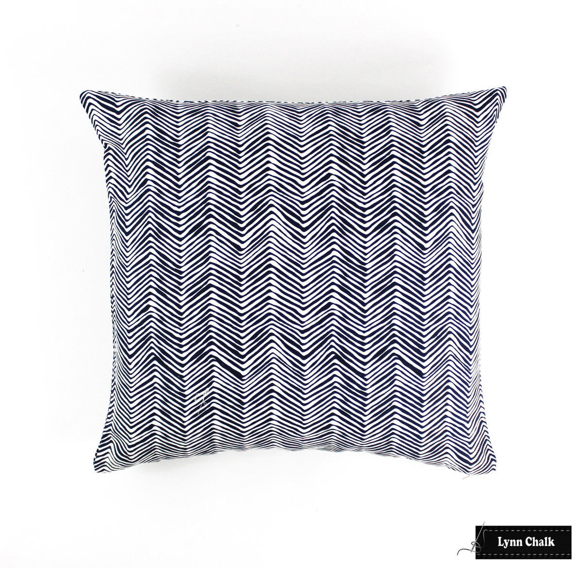 quadrille alan campbell petite zig zag pillow in new navy on white - on sale quadrille alan campbell petite zig zag pillow in new navy on white(both
