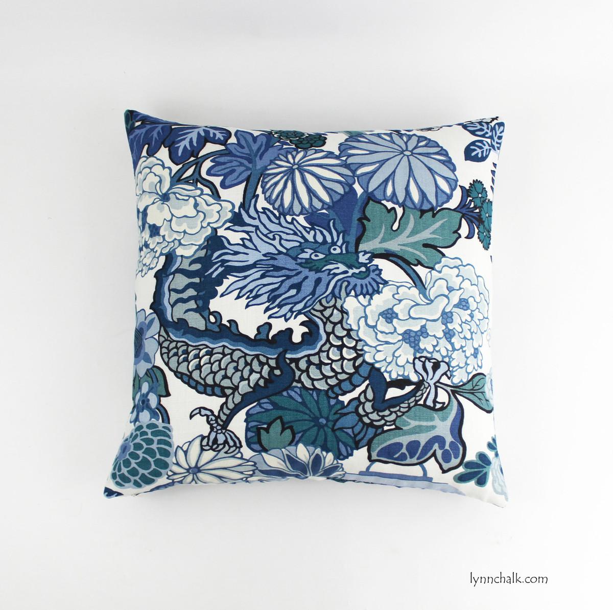 ... Chiang Mai Dragon Pillow In China Blue ...