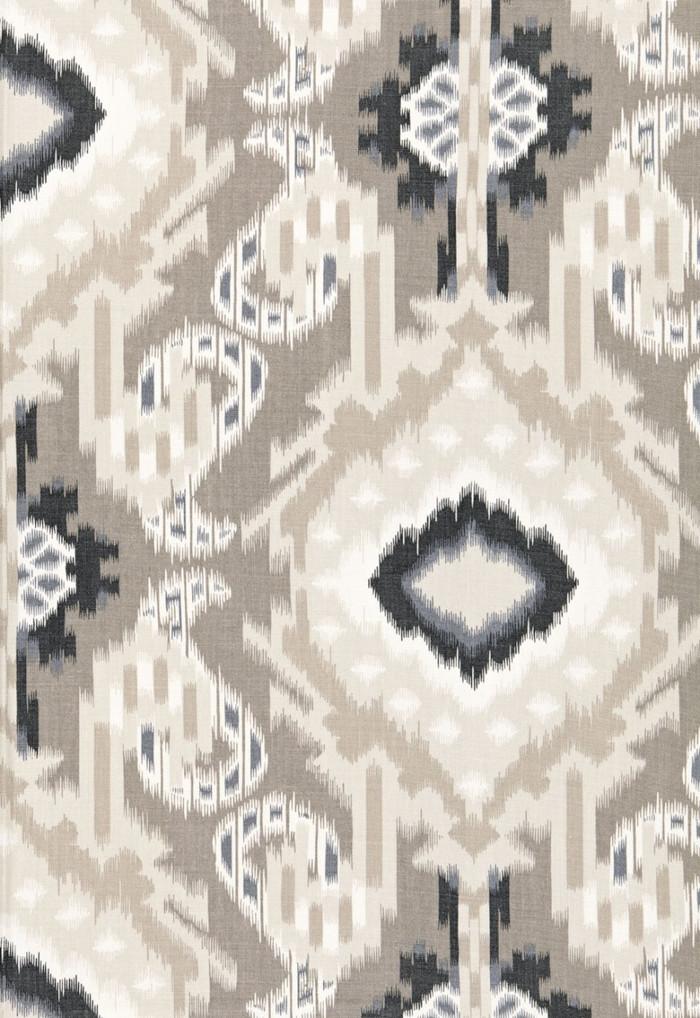 Schumacher Kiribati Ikat Print Linen