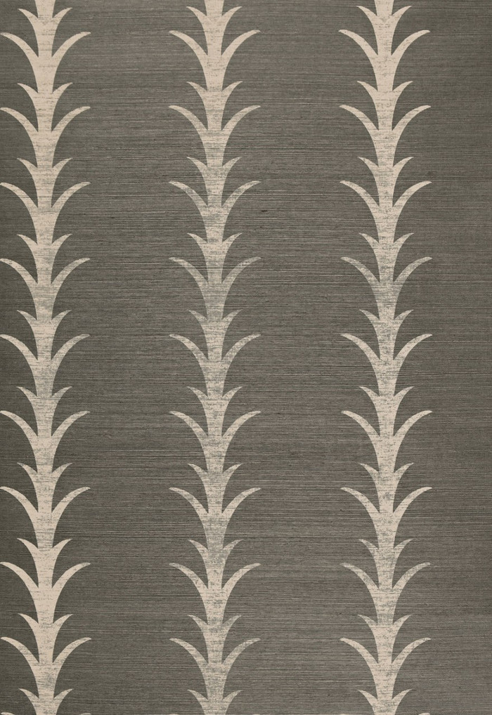 Celerie Kemble Acanthus Stripe Shadow Wallpaper