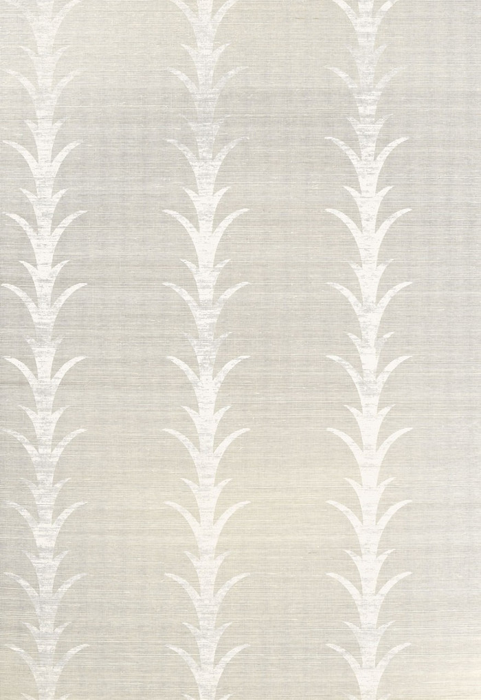 Celerie Kemble Acanthus Stripe Fog & Chalk Wallpaper