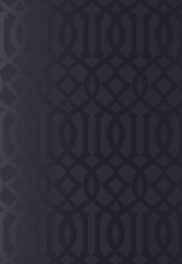 Schumacher Kelly Wearstler Imperial Trellis Onyx Gloss Wallpaper