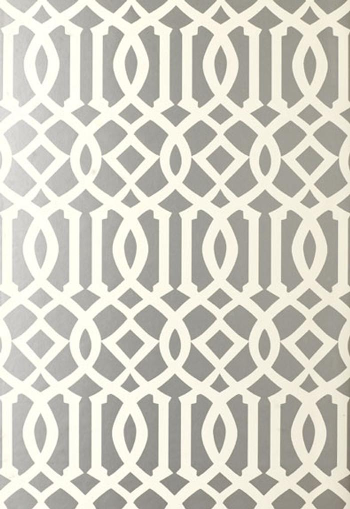Schumacher Kelly Wearstler Imperial Trellis Silver Wallpaper