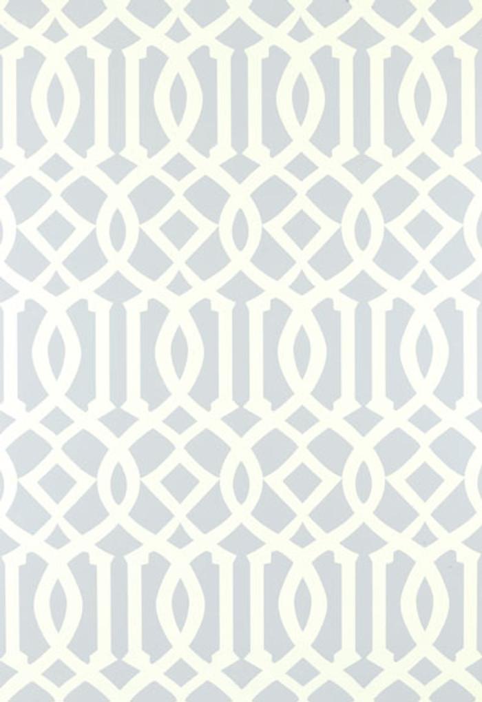 Schumacher Kelly Wearstler Imperial Trellis Soft Aqua Wallpaper