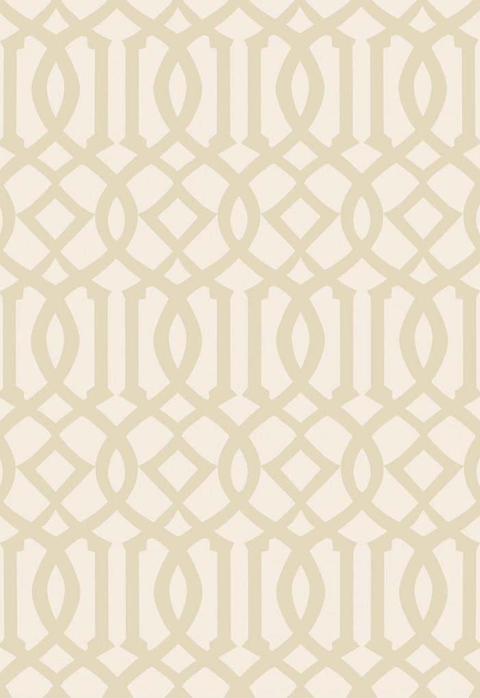 Schumacher Kelly Wearstler Imperial Trellis II Sand/Ivory Wallpaper