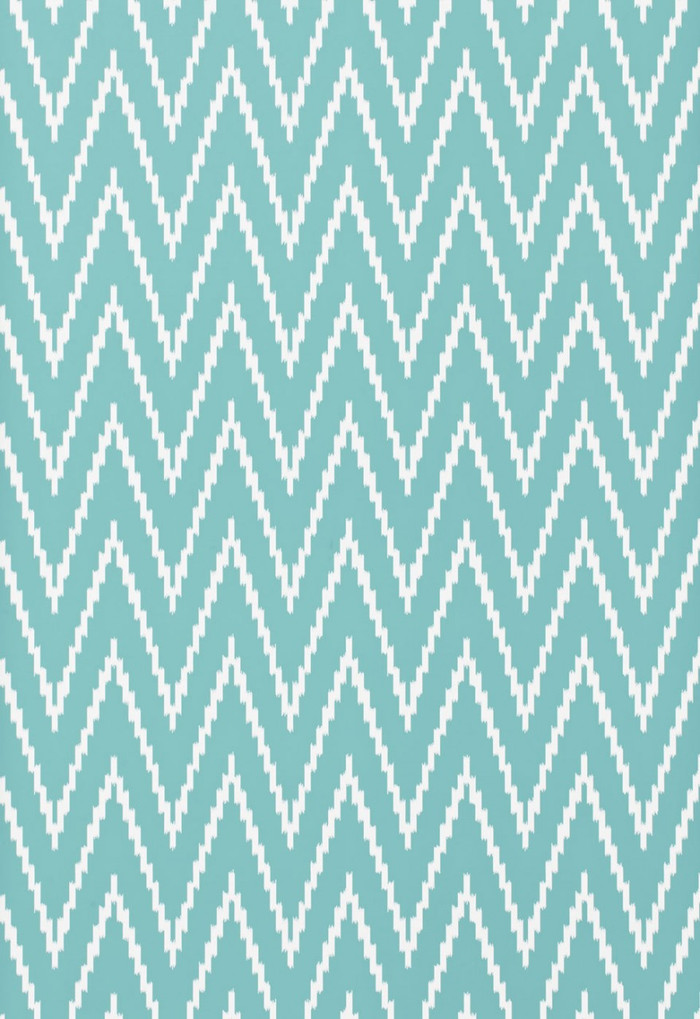 Schumacher Kasari Ikat Wallpaper Azure