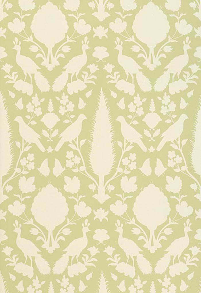 Schumacher Chenonceau Wallpaper Sage