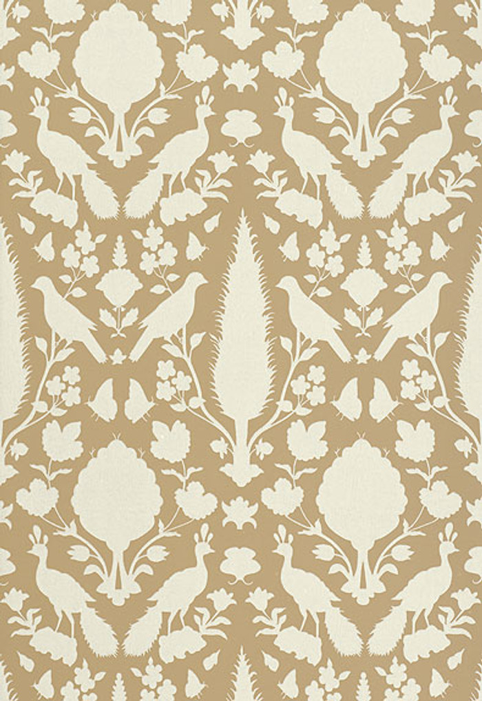 Schumacher Chenonceau Wallpaper Fawn