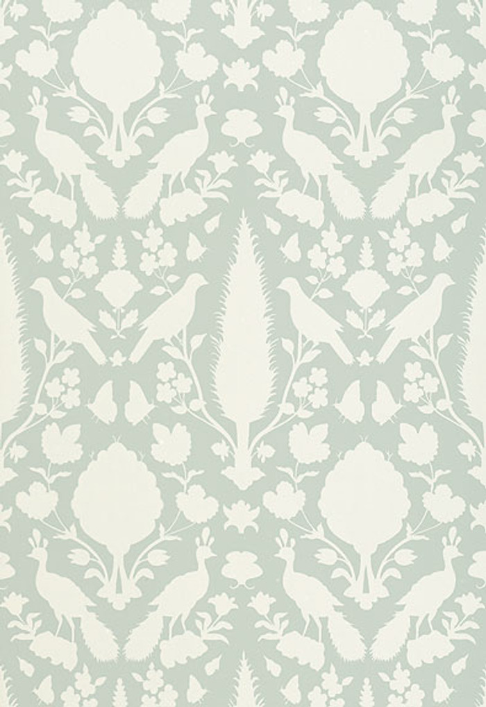 Schumacher Chenonceau Wallpaper Aquamarine