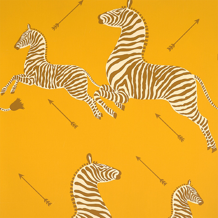 Scalamandre Zebras Wallpaper Zanzibar Gold