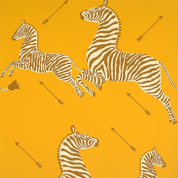 Scalamandre Zebras Wallpaper Zanzibar Gold