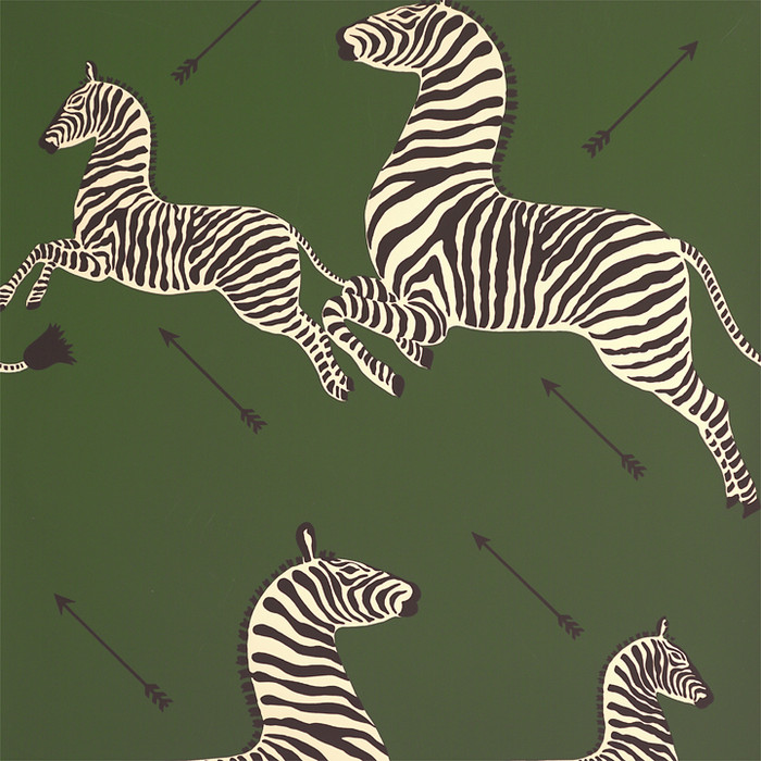 Scalamandre Zebras Wallpaper Seregenti Green