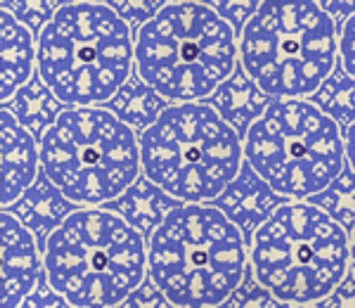 Quadrille Nitik II Pacific Blue on White