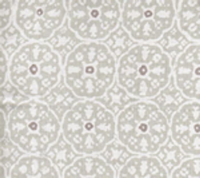 Quadrille Nitik II Agate Slate on White