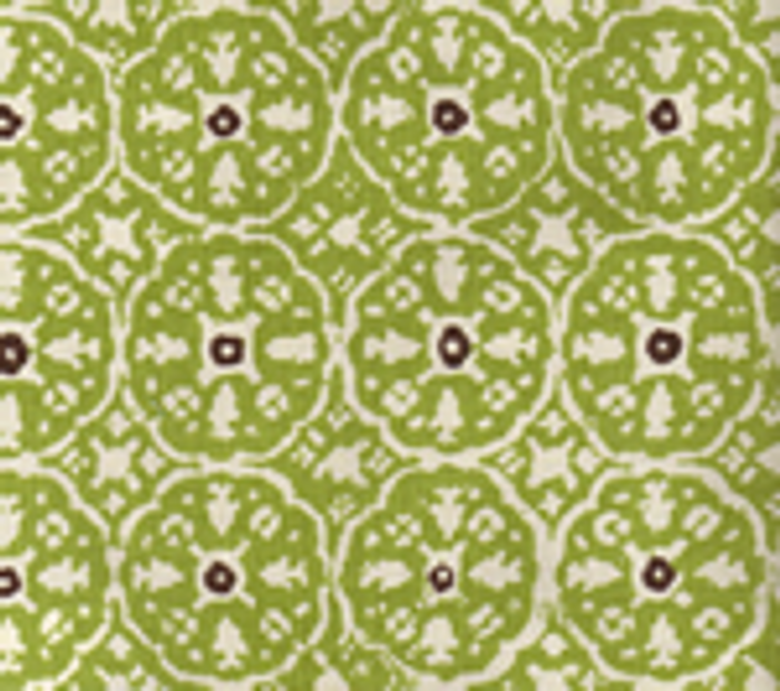 Quadrille Nitik II Jungle Green Brown on Tint