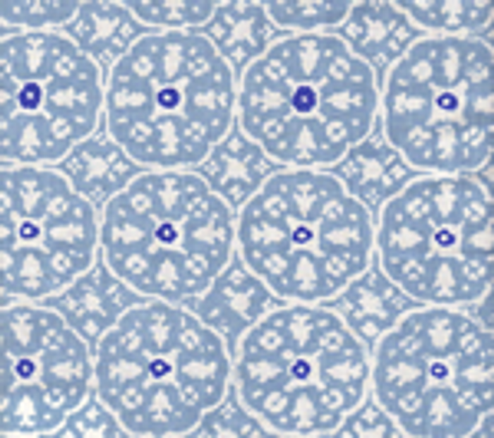 Quadrille Nitik II Sky Blue on White