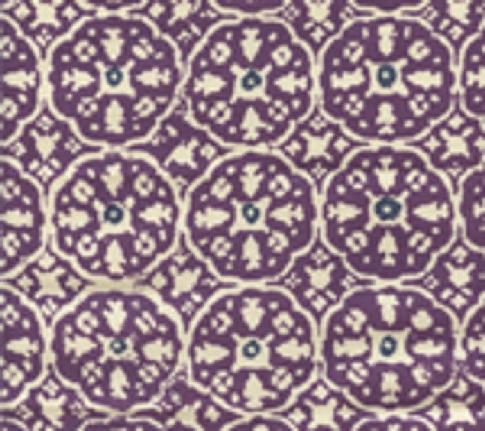 Quadrille Nitik II Purple on Navy on Tint