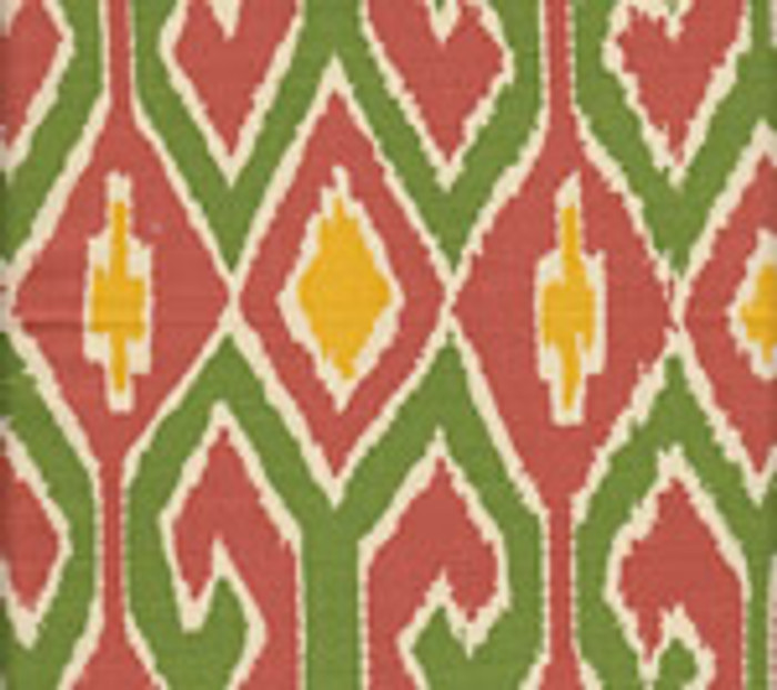 Quadrille Aquarius Rust/Forest/Yellow on Cream