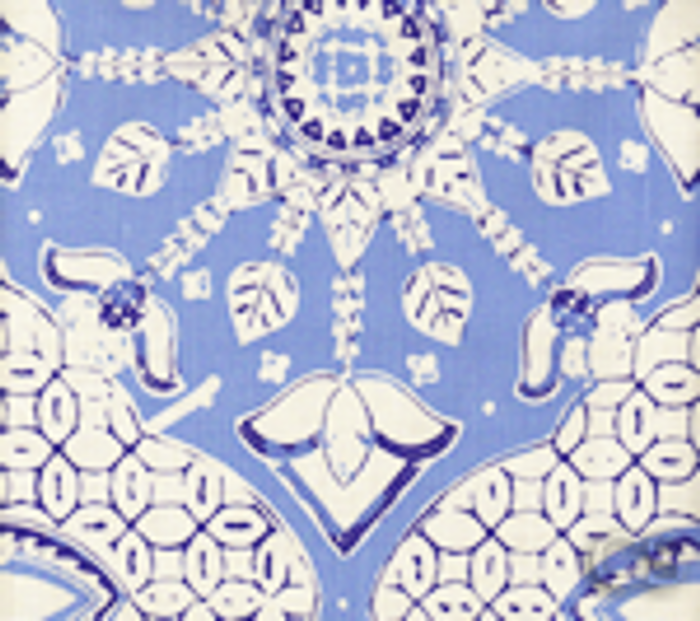 Quadrille New Batik French Blue Navy on Tint