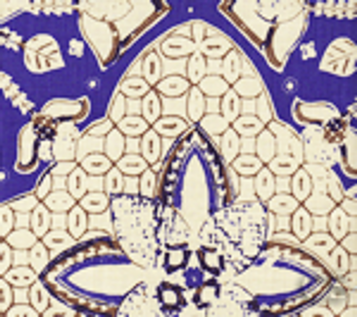 Quadrille New Batik New Navy Brown on Tint