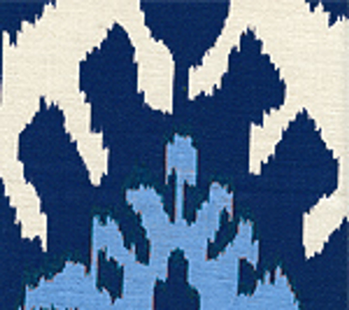 Quadrille Kazak Blue on Suncloth (Indoor/Outdoor fabric)