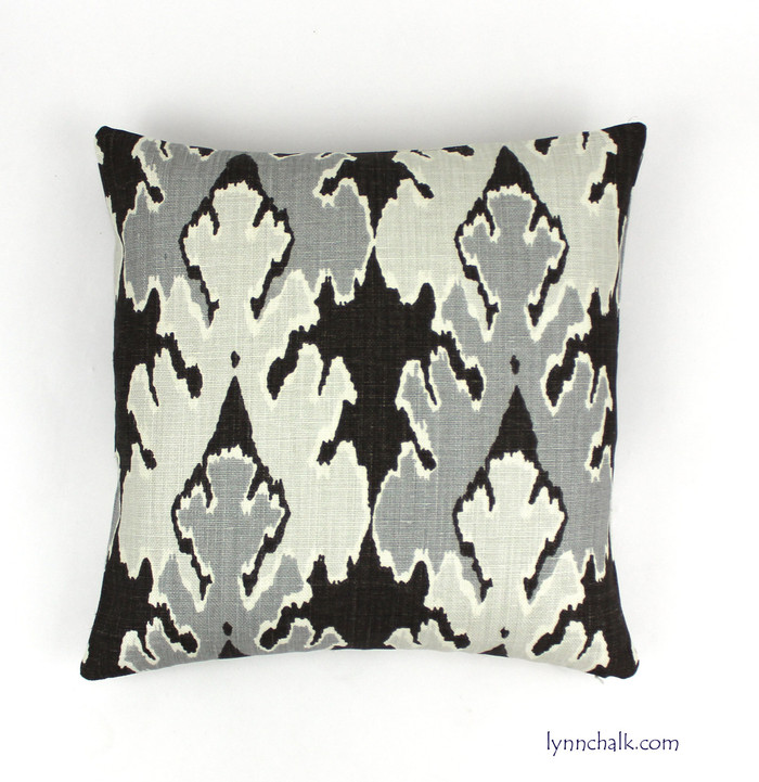 Custom Pillow by Lynn Chalk in Kelly Wearstler Bengal Bazaar Graphite GWF-2811_811
