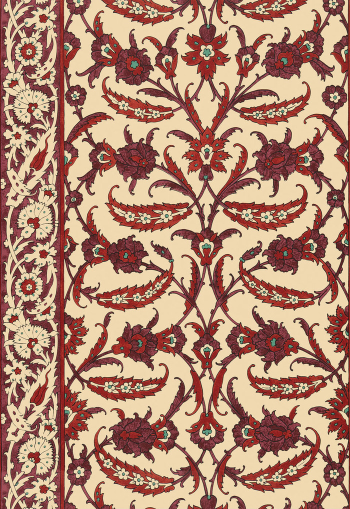 Schumacher Martyn Lawrence Bullard Topkapi Pomegranate Wallpaper