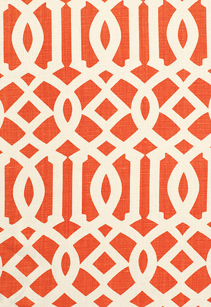 174410 Schumacher Kelly Wearstler Imperial Trellis II Ivory Mandarin
