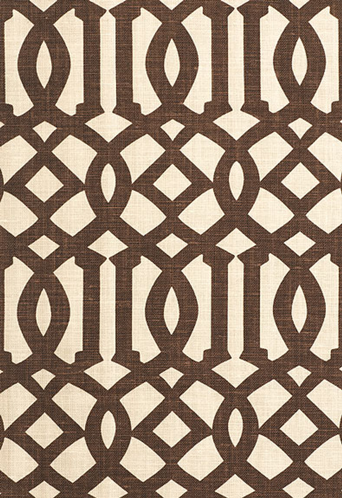 174413 Schumacher Kelly Wearstler Fabric Imperial Trellis II Java