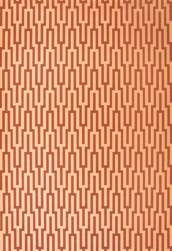 Schumacher Metropolitan Fret Wallpaper Amber