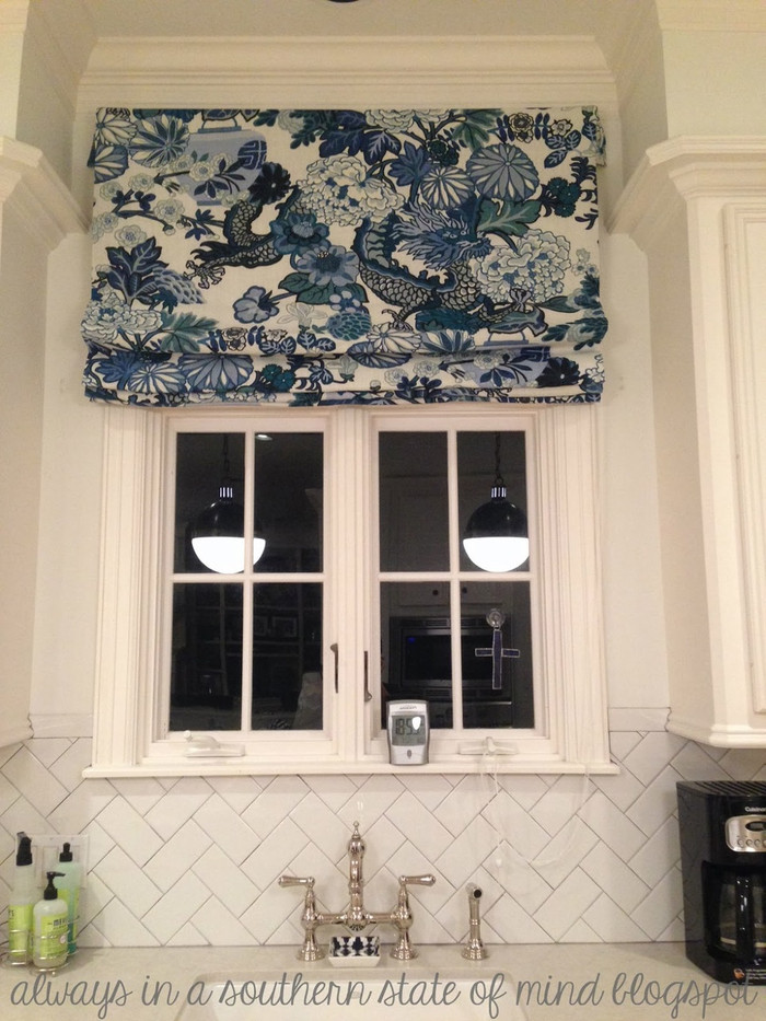 Custom Roman Shade by Lynn Chalk (photo taken by client-visit alwaysinasouthernstateofmind.blogspot)
