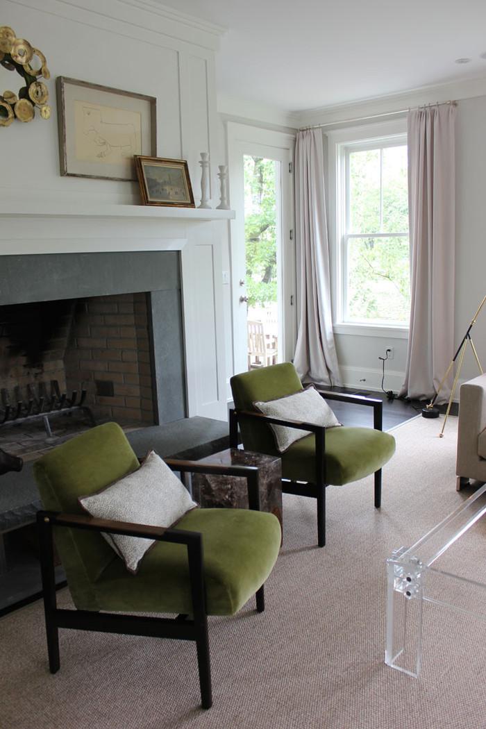 Chairs In Holly Hunt Vanity Fair In Fresh. Custom Pillows By Lynn Chalk In  Kelly