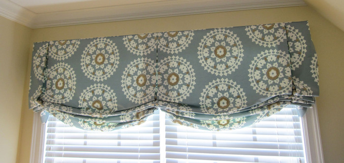 Custom Valance by Lynn Chalk in Kea in Seamist