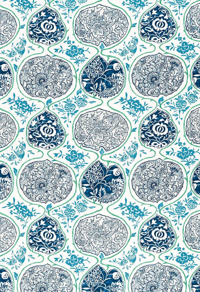 Schumacher Katsugi Cobalt and Turquoise