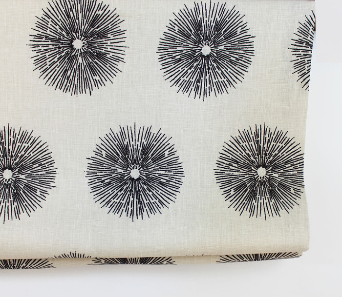 Kelly Wearstler Sea Urchin Roman Shade in Ebony/Ivory