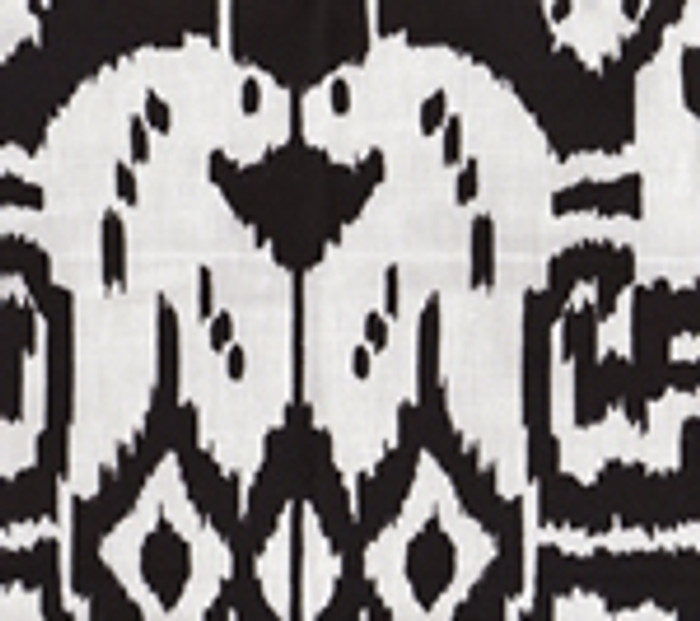 Quadrille China Seas Island Ikat Black on White