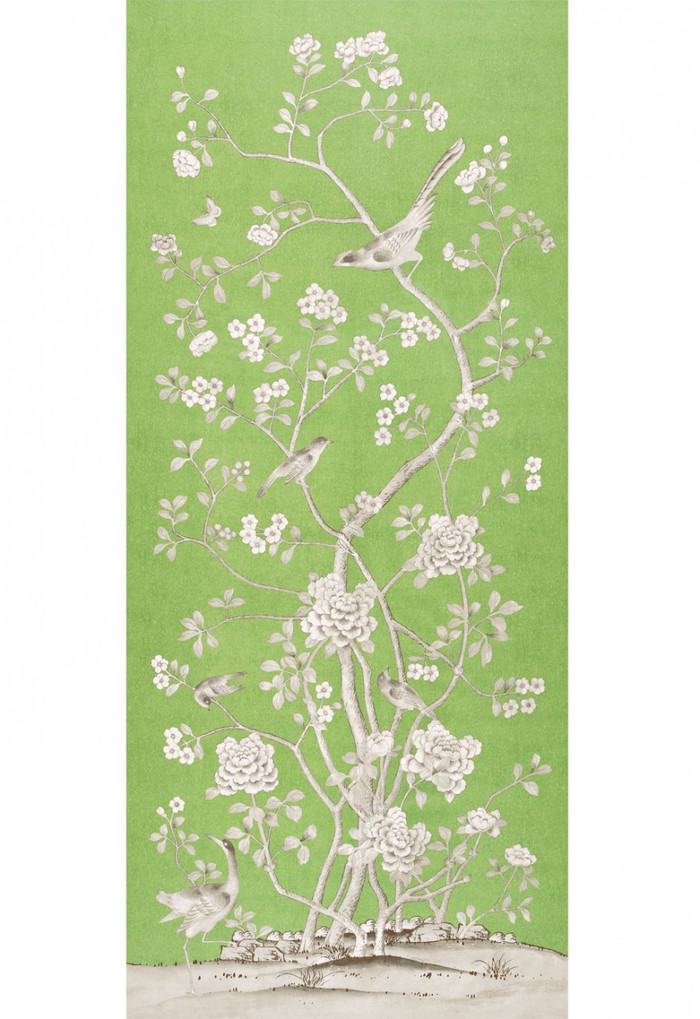 Schumacher Mary McDonald Chinois Palais Lettuce Wallcovering