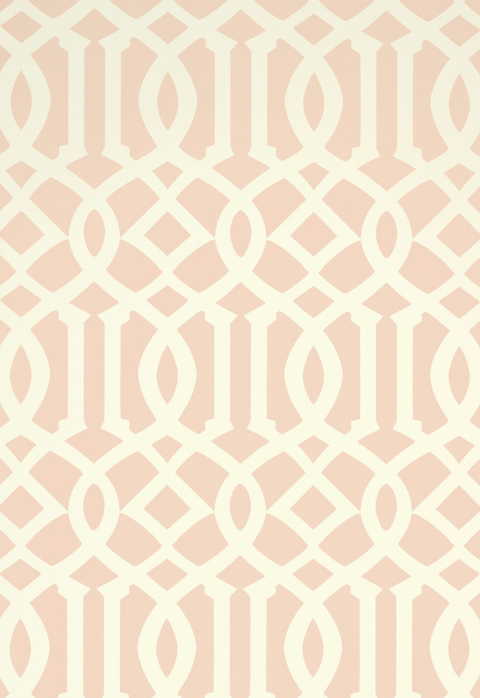 Schumacher Kelly Wearstler Imperial Trellis II Blush Wallpaper