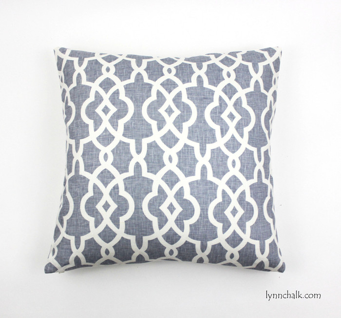 Schumacher Summer Palace Fret Custom Pillows in Wisteria (Available in other colors)