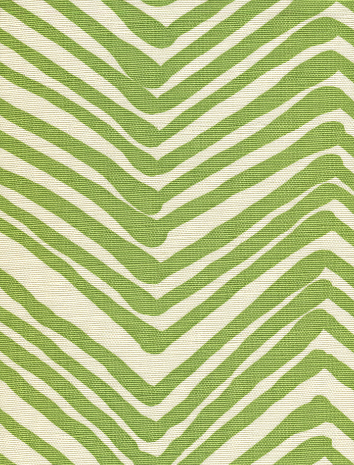 Quadrille Alan Campbell Zig Zag Jungle Green On Tint AC302-32