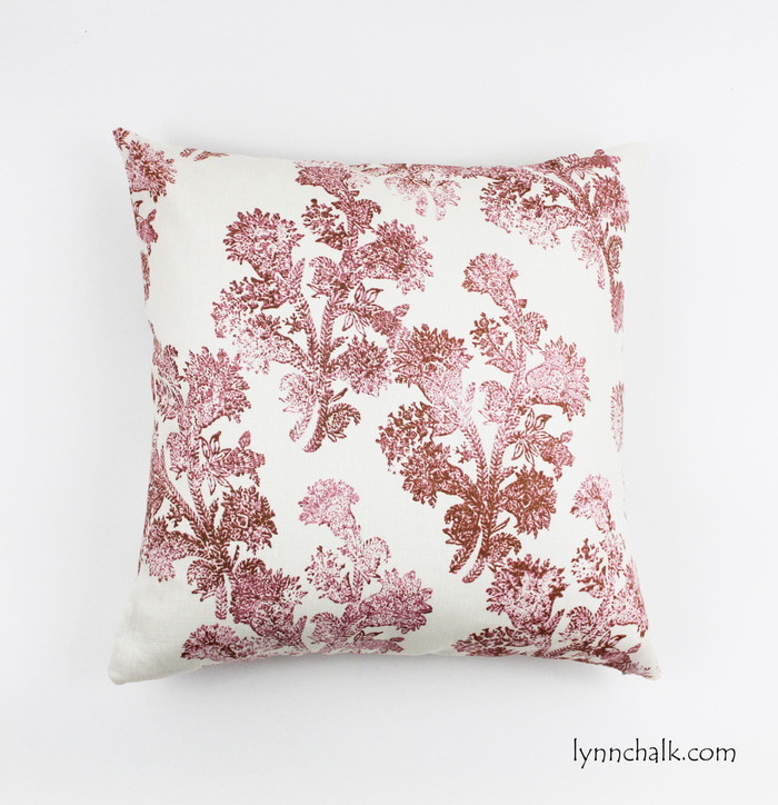 Custom Pillow by Lynn Chalk in John Robshaw Pushpa in Rosehips