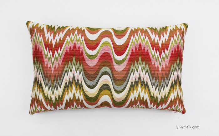 Custom Pillow by Lynn Chalk in Acid Palm Watermelon (14 X 24)