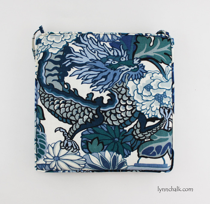 Custom Seat Cushions in Chiang Mai Dragon China Blue