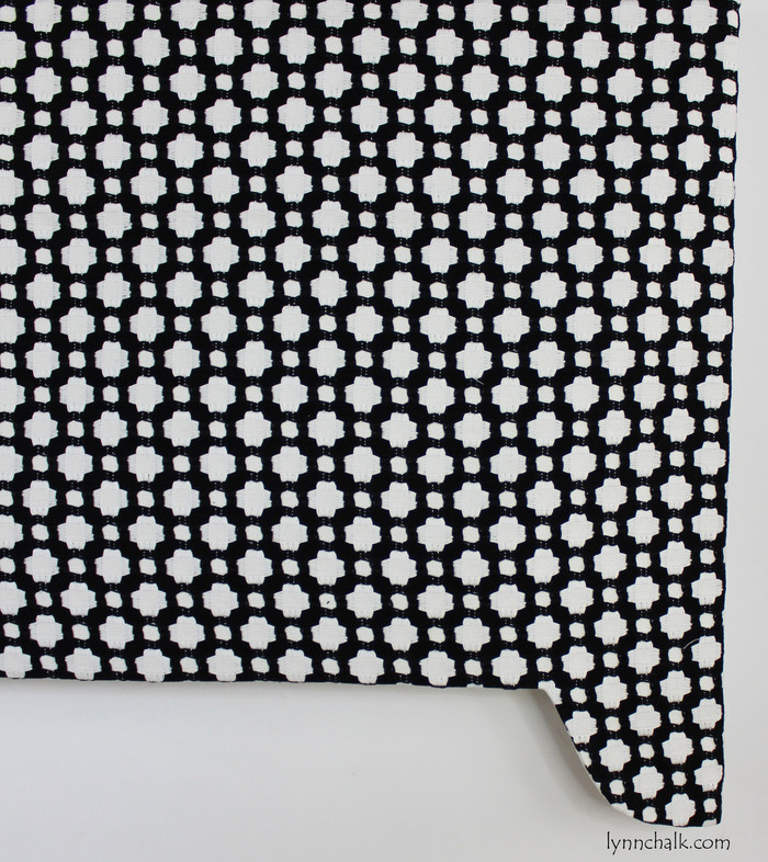 Celerie Kemble Betwixt for Schumacher Custom Shaped Valance (shown in Black and White-comes in 16 Colors)